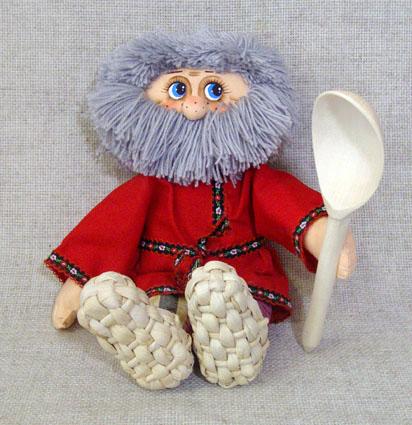 Кукла славянская Ерошка с ложкой, МП