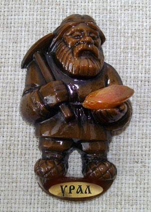Магнит литой Дед с киркой, 1229