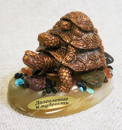 Фигурка Три черепахи, селенит, 1344