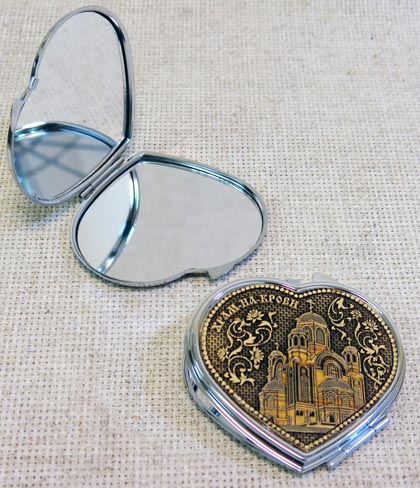 Сердце под фото с зеркалом, АА