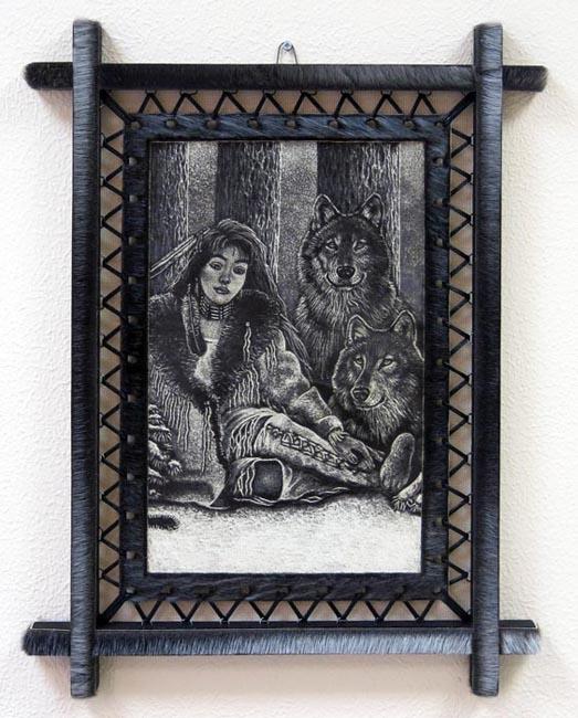 Картина на шкуре байкальской нерпы - Домашний уют
