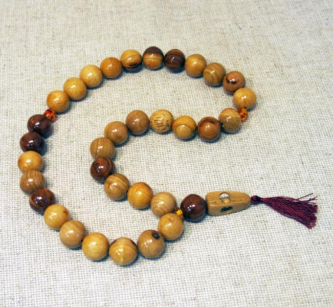 Четки мусульманские с янтарем, д.22, БХЧ