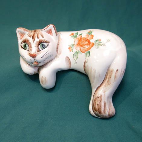 Кошка на полку майолика, ГД, 1378