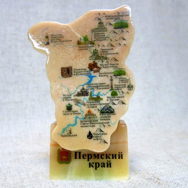 Настольный сувенир Картограф, селенит, ИВ