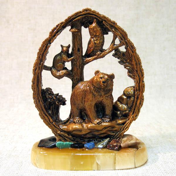 Панно с лесными зверями