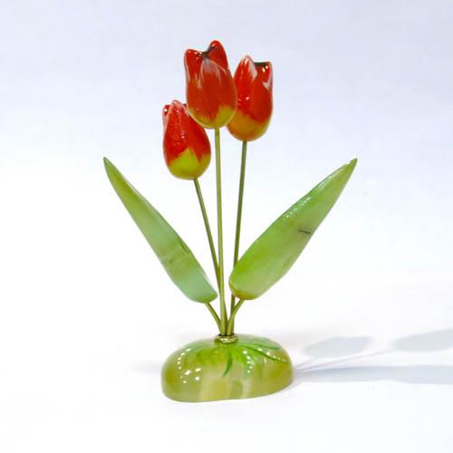 Настольный сувенир Тюльпаны 3 цветка малые, А