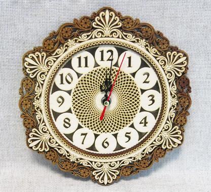 Часы берестяные Ажур, ПН