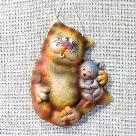 Панно Кот с мышкой