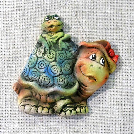 Панно Лягушка с черепахой