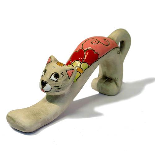 Фигура керамическая Кошка потягивается