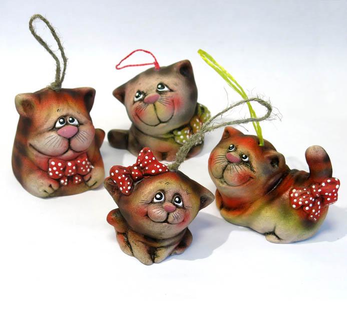 Колокольчик Кот с бантом