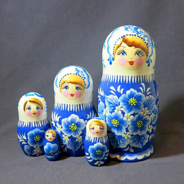 Матрешка Аленка Зимние сны бол, 5 мест, №41