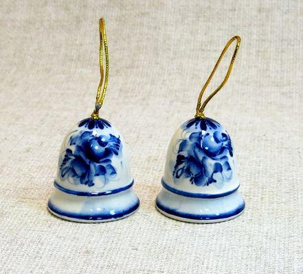 Колокольчик №1, гжель синяя, СМ