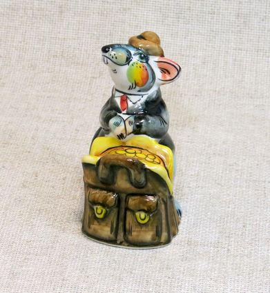 Мышь Казначей, гжель цветная