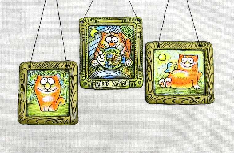 Панно Коты забавные в ассортименте
