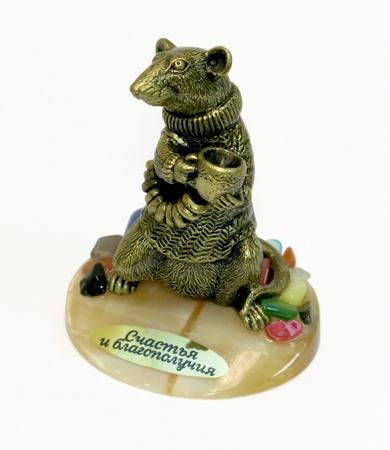 Скульптура на селените Мышка с баранками, 13147
