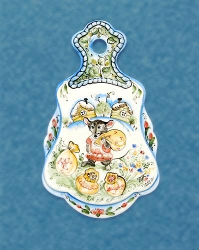 Сырная доска Мышь, майолика, ГД 3382