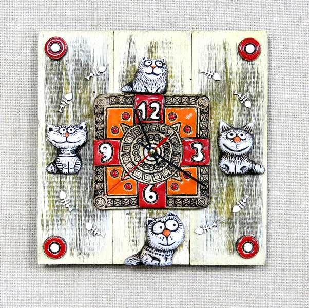 Часы Коты, CHT-00-24