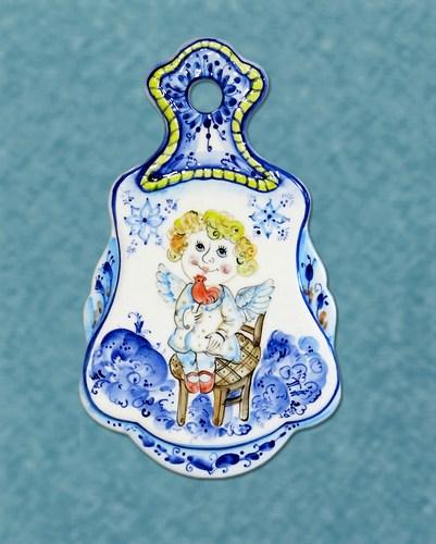 Сырная доска Ангел 1, майолика, ГД 3524