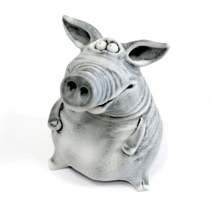 Свинья сидит, авторская