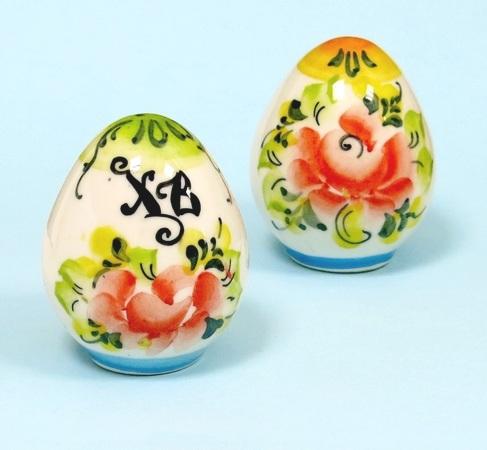 Яйцо пасхальное, гжель цветная