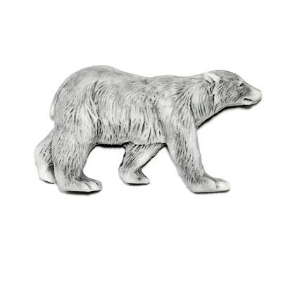 Магнит Медведь белый (вид сбоку)
