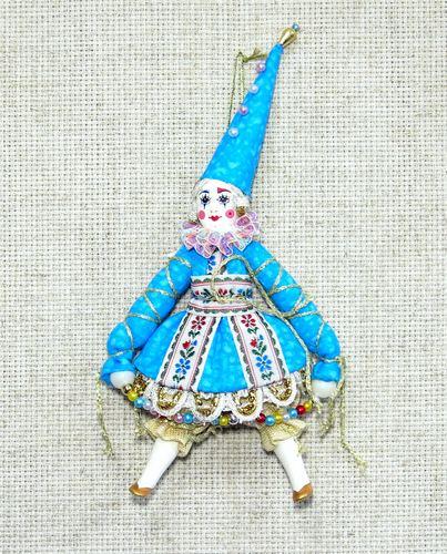 Кукла подвесная Клоунесса в высоком колпачке, КД10
