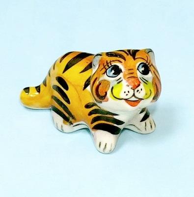 Тигр Хантер, гжель цветная
