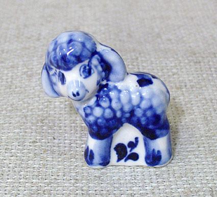 Овечка игрушка, МП0263, гжель синяя