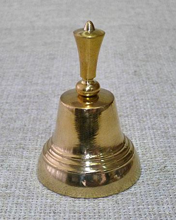 Колокол-позвонок латунный № 4, ручка